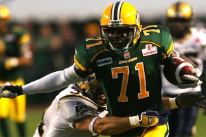 From the Edminton Eskimos to the Buccaneers comes Kelly Campbell. Yes, the Eskimos look like the Packers.