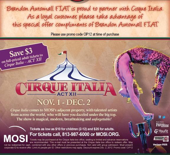 Cirque italia coupon code 2018
