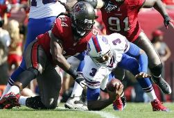 Adrian Clayborn buries EJ Manuel last week.