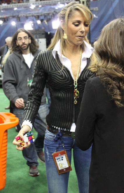 It seems the best asset of the world renown Ines Sainz caught the eye of a passerby at Media Day.
