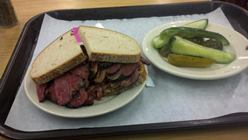Joe's pastrami sandwich from the famous Katz Deli in lower Manhattan. It was as good as advertised.