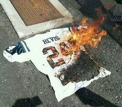 Revis jersey burning