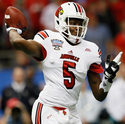Louisville QB Teddy Bridgewater is working out for the Bucs today.