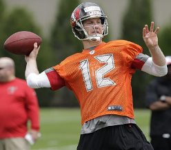 Per the respectable OverTheCap.com, Bucs QB Josh McCown's contract is only guaranteed in 2014.