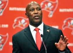 Lovie Smith doesn't have a problem with the late start for rookies, as long as all teams are under the same schedule.