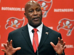 Bucs coach Lovie Smith still won't give many hints about his offense.