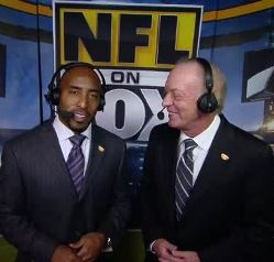 Former Bucs great Ronde Barber, now a FOX Sports NFL voice, shown here with Dick Stockton, will team up with his Bucs preseason partner Chris Myers for NFL regular season games this fall.