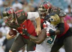 It would be a good sign if the Bucs offensive line can keep Miami defenders off QB Josh McCown tonight.