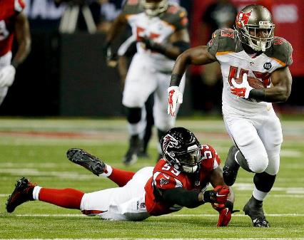 Did Bobby Rainey lose his starting job last night by losing two fumbles? Photo courtesy of Buccaneers.com.