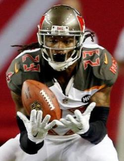 Bucs S Mark Barron scoops up a Dixie Chicks fumble last night. The rest of the game, he spent chasing down receivers with the ball. Photo courtesy of Buccaneers.com.