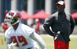 A little change was in the air at Bucs practice yesterday