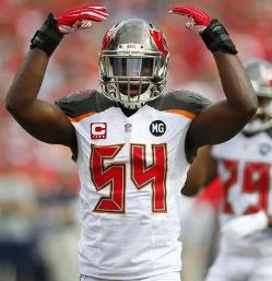 Spreadsheeters were not overly impressed with Bucs OLB Lavonte David this season.