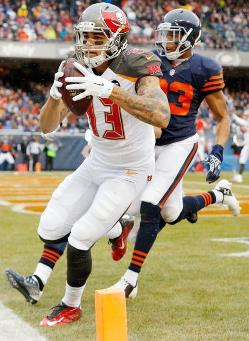 Bucs WR Mike Evans scores Sunday. (Photo courtesy of Buccaners.com)
