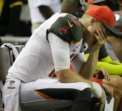 The quarterback play by the Bucs was so awful, not even Bucs QB Josh McCown could watch.