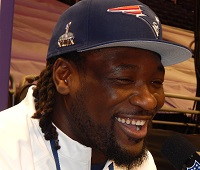 LeGarrette Blount talks to Joe at Super Bowl Media Day