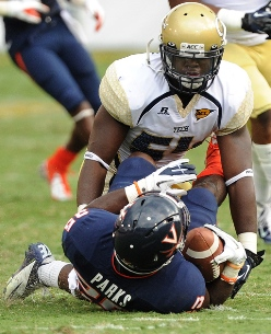 Playing for the Bucs would fulfill a lifelong dream for Georgia Tech LB Quayshawn Nealy.