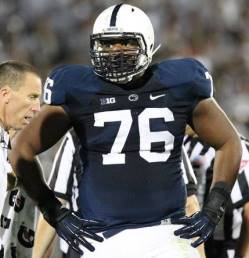 "The Bucs have spoken with Penn State OT Donovan Smith ""many times."""