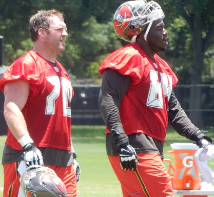 Logan Mankins and Kevin Pamphile were attached at the hip today