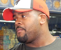 Donovan Smith described his offseason lifestyle today at One Buc Palace