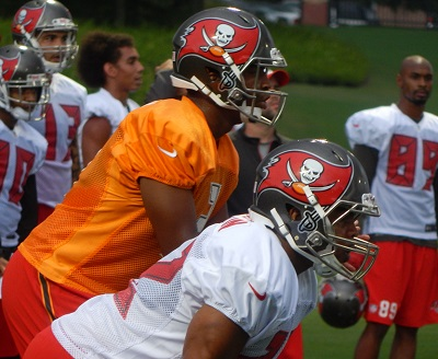 Jameis Winston and the Bucs practiced tonight.