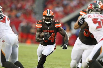 Isaiah Crowell and the Browns had little difficulty running against the Bucs last night.