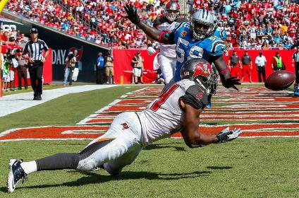 Bucs RB Charles Sims pulled off a rare feat Sunday. (Photo courtesy of Buccaneers.com)