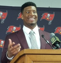 The Bucs' new big money defensive end offers a first take on Jameis.