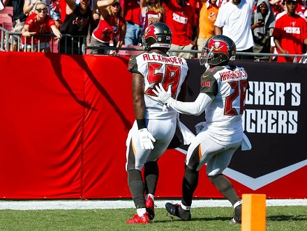 Kwon Alexender details his first NFL or college touchdown. (Photo courtesy of Tampa Bay Buccaneers)