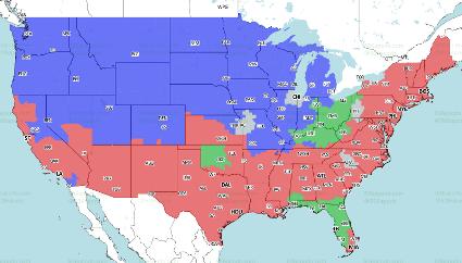 Bucs At Bengals TV Map - JoeBucsFan.com - Tampa Bay Bucs Blog ...